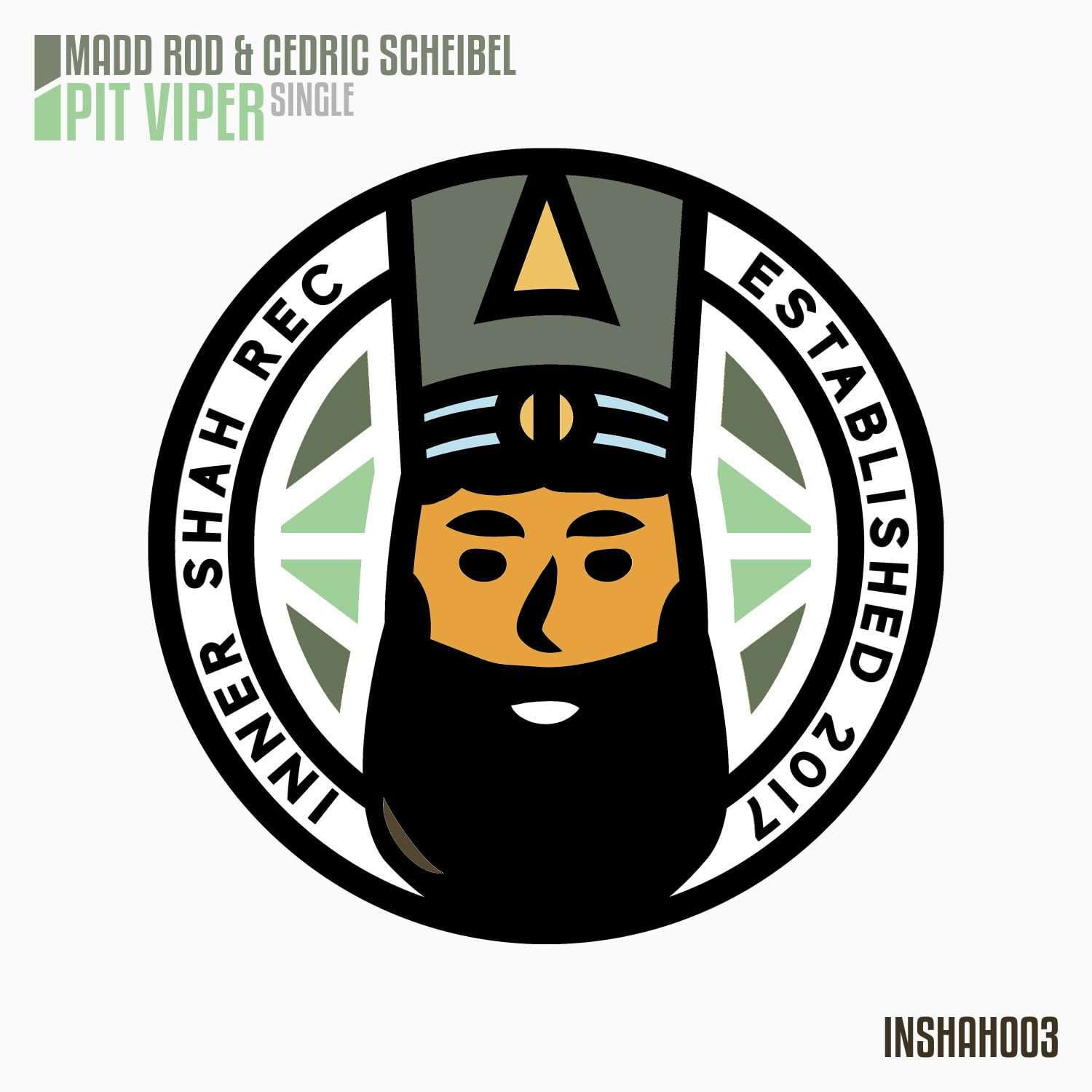 Madd Rod & Cedric Scheibel - Pit Viper Single Artwork - Inner Shah Recordings